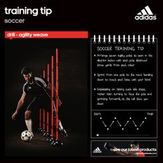 Check out our training tip for this week, the 'agility weave' a drill designed to improve close control and awareness #agilitypoles #football #gettraining