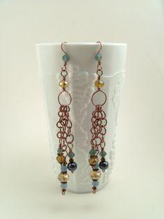 Handmade Dangle Earrings with Brazilian Aquamarine by GypsyWhims, $18.00