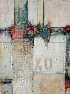 Metro Ventas by Brad Hook  encaustic  collage with ephemera #mixed_media #painting
