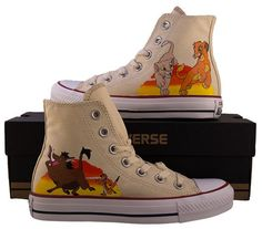 Hey, I found this really awesome Etsy listing at https://www.etsy.com/listing/201935126/hand-painted-converse-hi-the-lion-king