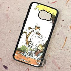 Calvin and Hobbes Best Friend Playing - Samsung Galaxy S7 S6 S5 Note 7 Cases & Covers
