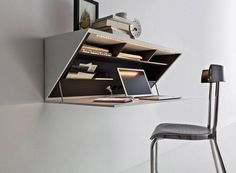 26 idées de bureaux suspendus, le meuble très pratique pour les petits espaces - Des idées