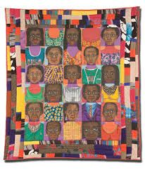 Week 23: March 3rd - Another piece by Faith Ringgold, I like the layout and border of this quilt.