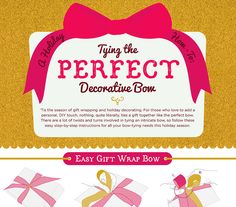 Gather your crafting supplies and let\'s have some fun on the blog! How To Tie the Perfect Holiday Bow (INFOGRAPHIC)