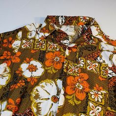 Vintage 70s Jantzen Swim Wear Mens Tiki Hawaiian Aloha Casual Shirt Medium #Jantzen #Hawaiian