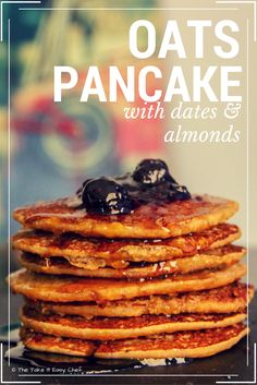 This healthy and tasty Oats Pancake with Dates & Almonds is going to win over your breakfast crowd. It takes less than 15 minutes to cook and serve them. Breakfast For A Crowd, Breakfast Recipes, Dinner Recipes, Brunch Recipes, Waffle Recipes, Breakfast Ideas, Almond Recipes, Healthy Recipes, Easy Recipes