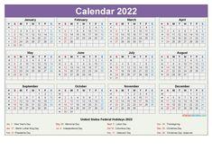 Downloadable Calendars 2022 2018 Calendar Template, Free Printable Calendar Templates, Excel Calendar, Printable Numbers, Kids Calendar, Yearly Calendar, 2021 Calendar, Printables, Calendar With Week Numbers