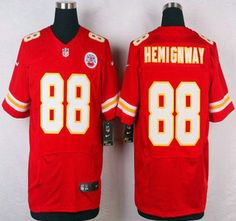 Kansas City Chiefs Jersey 88 Junior Hemingway Red Team Color NFL Nike Elite Jerseys