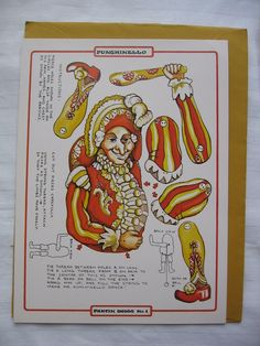 Vintage Pantin Dolls No 1 Punchinello Jumping Jack Doll New | eBay