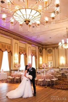 Our beautiful ballroom was overshadowed by an even more beautiful couple in this feature by WedLuxe: http://bit.ly/1cA0wPS