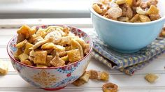 Salted caramel apple is a perfect fall flavor – so why not add it to your Chex Mix too?