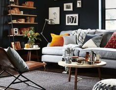 How to decorate with dark grey