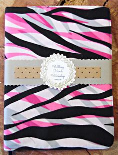 A personal favorite from my Etsy shop https://www.etsy.com/listing/270583825/fuchsia-zebra-composition-notebook-cover