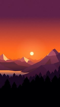Landscape 11 wallpaper by - - Free on ZEDGE™ Good Phone Backgrounds, Wallpaper Backgrounds, Iphone Wallpaper, Landscape Wallpaper, Landscape Art, Minimalist Wallpaper, Cool Wallpaper, Sunset Wallpaper, Aesthetic Wallpapers