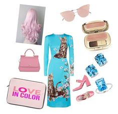 """""""LOVE IN COLOR with Dolce & Gabbana :-):-):-):-)"""" by meriima-aljic ❤ liked on Polyvore featuring Dolce&Gabbana, So.Ya, Bloomingdale's, Prada and BillyTheTree"""