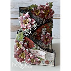Heartfelt Creations - Cascading Poinsettias Foldout Card Project