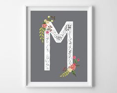 I love how much you all love free printable art. Today's freebie combines a classic gray background with distressed initials and a sweet floral embellishment. I can just picture these on a nu…