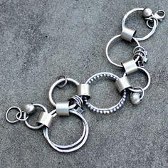 Sterling zilveren armband Link Bracelet Hand door lsueszabo