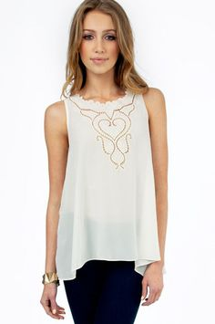 Esther Embroidered Tank Top $33 at www.tobi.com
