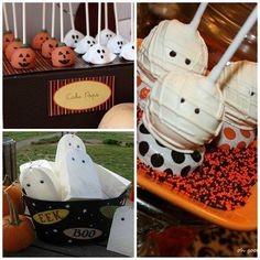 Pumpkin Party Decor -  Halloween! Ghosts - Halloween Decor and treats - Halloween ideas - party - #halloween #halloweentreats #halloweendecor