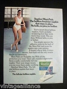 1974 Stayfree Maxi Pads ad!!