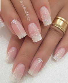 60 wedding nails art ideas and bridal nails caring 1 Elegant Nails, Stylish Nails, Trendy Nails, Cute Nails, Fancy Nails, Vintage Wedding Nails, Wedding Nails Design, Nail Wedding, Wedding Nails For Bride