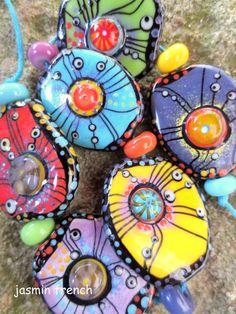 °°jasmin french°° lampwork beads orgons on ebay.com