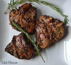 Garlic & Rosemary Lamb Chops | Delish D'Lites
