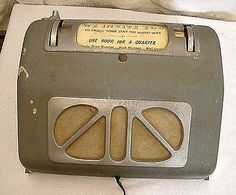 Rare-Vintage-tube-Coin-Operated-Radio-wall-mount-mid-century