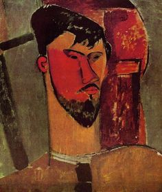 Portrait of Henri Laurens by Amedeo Modigliani #art