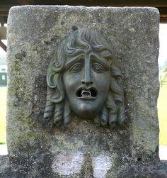 Roman public fountain head in Augusta Raurica (Augst, Switzerland)