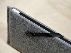 "Felt Case with genuine leather strap for MacBook Air 13"" and others!"