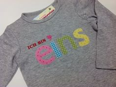 Geburtstagsshirt-Langarmshirt zum 1. Geburtstag