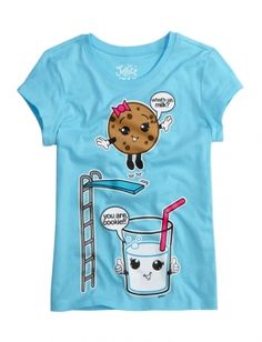 This Is A Very Cute Milk and Cookie Graphic Tee