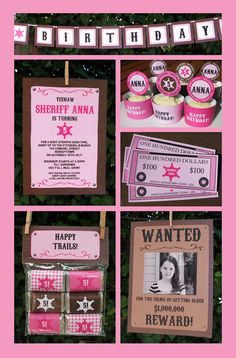 Pink Cowgirl Birthday printables