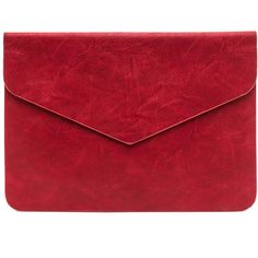 You've Got Mail Envelope Clutch RED ($17) ❤ liked on Polyvore featuring bags, handbags, clutches, bolsas, purses, сумки, red, man bag, red handbags and envelope clutch bag