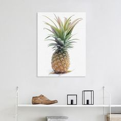 Watercolor Pineapple Canvas
