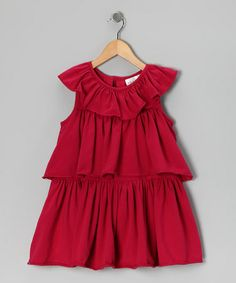 Take a look at this Fuchsia Triple-Tier Dress - Infant & Toddler by Right Bank Babies on #zulily today!