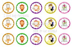 Cute Beauty and the Beast bottle cap images #bottlecaps FREE NOT TO BE RESOLD