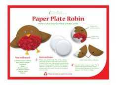 Your child will love this paper plate craft activity of a robin- a perfect craft for Christmas! iChild.co.uk