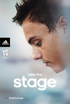 """Adidas UK Olympic campaign, based around the tagline """"Take the Stage,"""" features photographic portraits of top British athletes."""