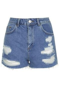 MOTO Vintage Ripped Mom Shorts - Bleach Stone #shorts #covetme #topshop #mom #shorts #spring #summer #highwaisted #ripped #distressed #boho #style