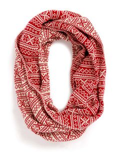 Red & Oat Oversized Snood and just in time for Santa!