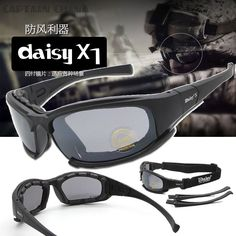 Tactical Daiisy X7 Glasses Military Goggles Army Sunglasses With 4 Lens Original Box Men Shooting Eyewear Gafas