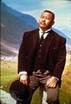 "Still of Harold Sakata in ""Goldfinger"", 1964 He was hell with that hat."