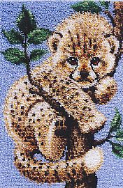 I've gotta have this one!  JP J P J P Coats Cheetah Latch Hook Rug Pattern Only | eBay