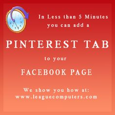 Create a Pinterest Tab on Your Facebook Fan Page In Minutes