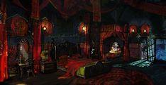 fantasy witcher bedroom castle dark artwork landscape anime medieval scenery digital