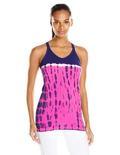 Spalding Womens Colorblock Tie Dye Seamless Tank Amethyst FlashRadiant Rose Large -- You can find out more details at the link of the image.