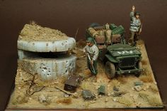 photo de Diorama Dreams. More Military Action Figures, Custom Action Figures, Bunker, Lego Soldiers, D Day Landings, Wargaming Terrain, Military Modelling, Military Diorama, Miniature Figurines